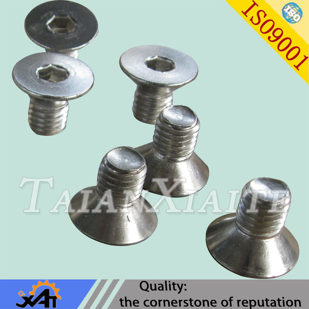 304 stainless steel standard <strong>M10</strong> countersunk treaded hex socket <strong>screws</strong> made in china