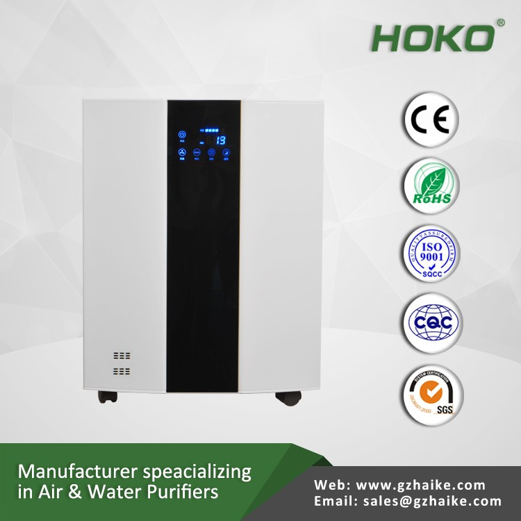 Ionized portable home air cleaner purifier with hepa filter low noise