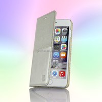 Silver high grade leather case,mobile phone cover for iphone 5.5 inch