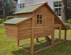 Wooden Chicken Coop XXL Wire Duck Cage With laying Box Eco-Friendly Feature TUV FSC Certificated