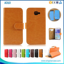 Top Selling Stylish Wallet Flip Cover For Samsung Galaxy A310, For Samsung Galaxy A310 Leather Case