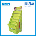 Custom Retail store Cardboard floor display rack for lip stick