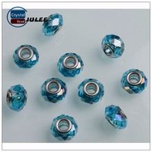 Lampwork glass beads reflective beads making machine big hole crystal glass beads for DIY