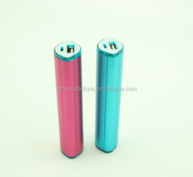 2600 mah 2200mah 2000mah 1800mah lipstick power bank for gift