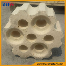 High temperature fire resistant lower creep rate high-alumina checker brick for hot blast furnace/stoves