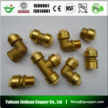 cUPC NSF approved Lead Free Brass Push Fit copper pipe fittings
