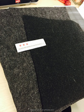 polyester felt 665GSM, thickness 4MM, grey and black color