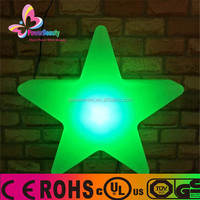 fashionable colorful plastic led decoration star light for christmas
