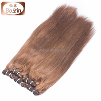 Grade 6a brazillian remy hair chocolate,100% human virgin chocolate brown remy hair