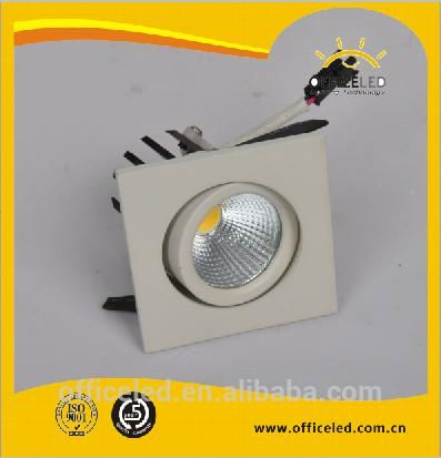 High quality 6W recessed COB led belysning with external driver