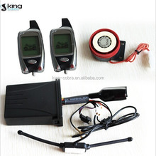 Hot selling high security two way motorcycle alarm with two remote