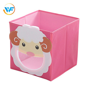 Wholesale Cube Fabric Bin Organizer Non Woven Collapsible Fabrics Storage Box Foldable