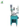50l Single Layer Glass Reactor,Stirring Jacketed Vacuum Bioreactor