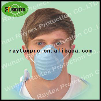 disposable anti dust blue face mask