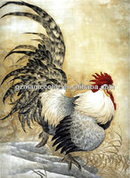 beautiful rooster paiting wallpaper