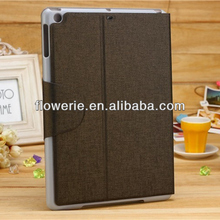FL2865 2013 Guangzhou hot selling stand retro wallet leather case with card slot for apple ipad air