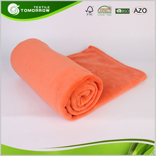Plain dyed adults 100% polyester fiber mexican solid coral fleece blanket