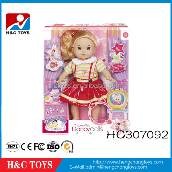 Wholesale electric dancing dolls toy 16 inch baby doll for kids HC307092