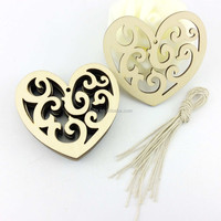 unique artifical wood heart shape craft for christmas decor