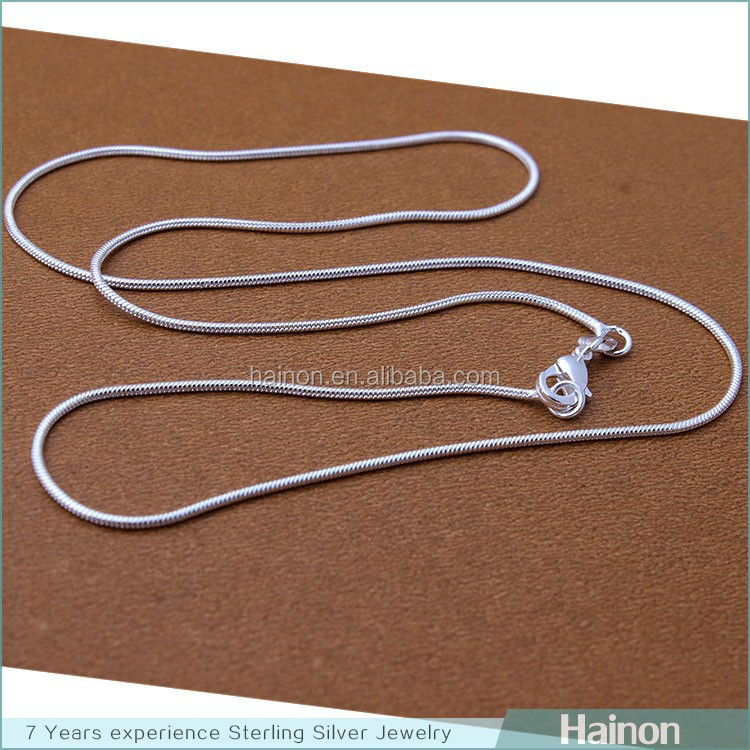 wholesale necklace stamped 925 chain 16 18 20 22 24 26 28 30 inch snake silver chain