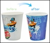 Cute plastic cups,cute cold color changing plastic cup
