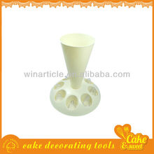 Pastry bag and nozzles cream stand