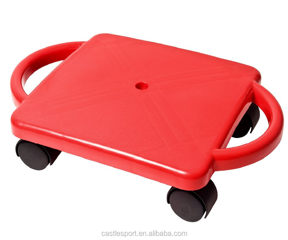 12 Inch Plastic Sitting Scooter Board With 4 Nylon Casters