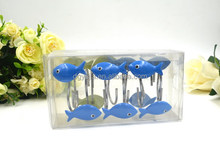 Various colors of small fish Polyresin Shower curtain hooks