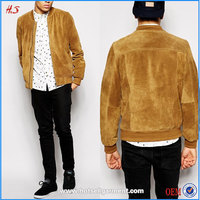 2016 clothing manufacturer new arrival mens wholesale suede bomber jacket