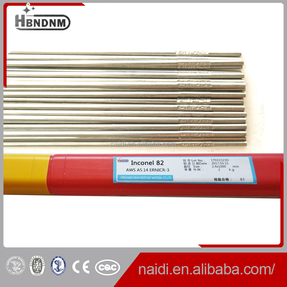 factory price Inconel 82/ERNiCr-3 tig welding wire rod for iconel 600
