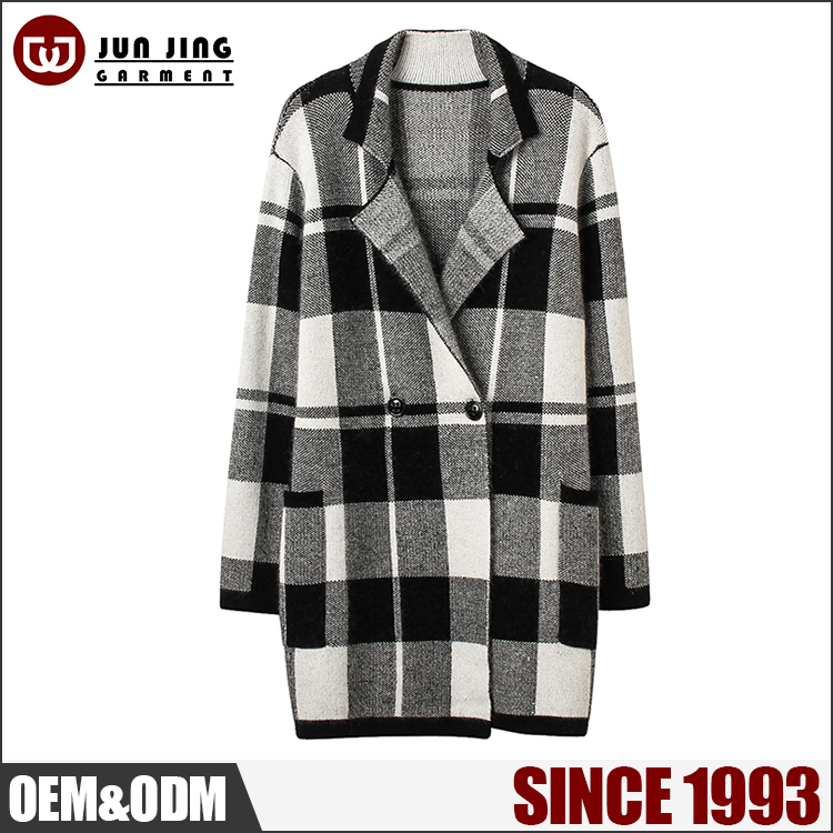 Anti-Pilling sweaters lady coat knitting pattern long ladies Windproof winter jacket