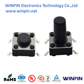 touch switch 6x6x4.3/5.0/6.0/7.0/8.0/9.0/9.5/10mm top actuated surface mount smt smd