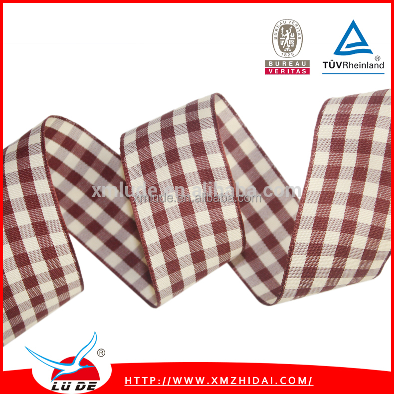 Wholesale Colorful Plaid ribbon for holiday packaging