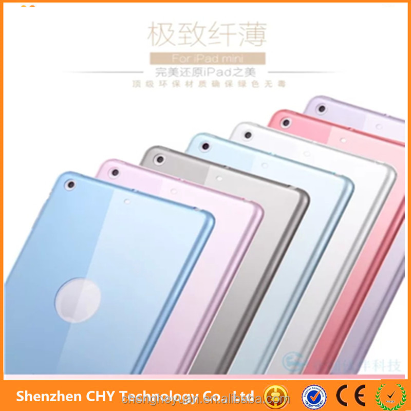 cheap 0.5mm tpu silicone transparent clear cell phone case cover for ipad mini