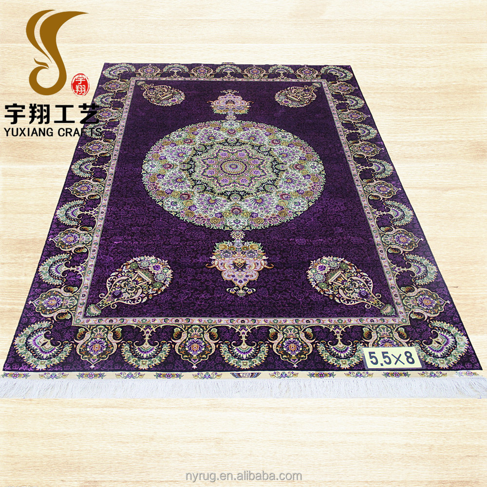 handmade silk persian rugs carpet in large stock qum rugs 100% silk