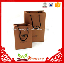 factory custom cheap brown paper bags with handles, craft paper bag with own design