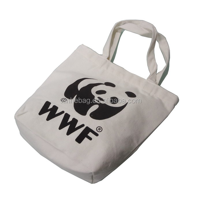 China wholesale printed cotton shopper tote bag