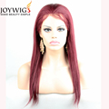 Hot sales 10A grade red Color silk straight Chinese virgin Human Hair full lace Wig