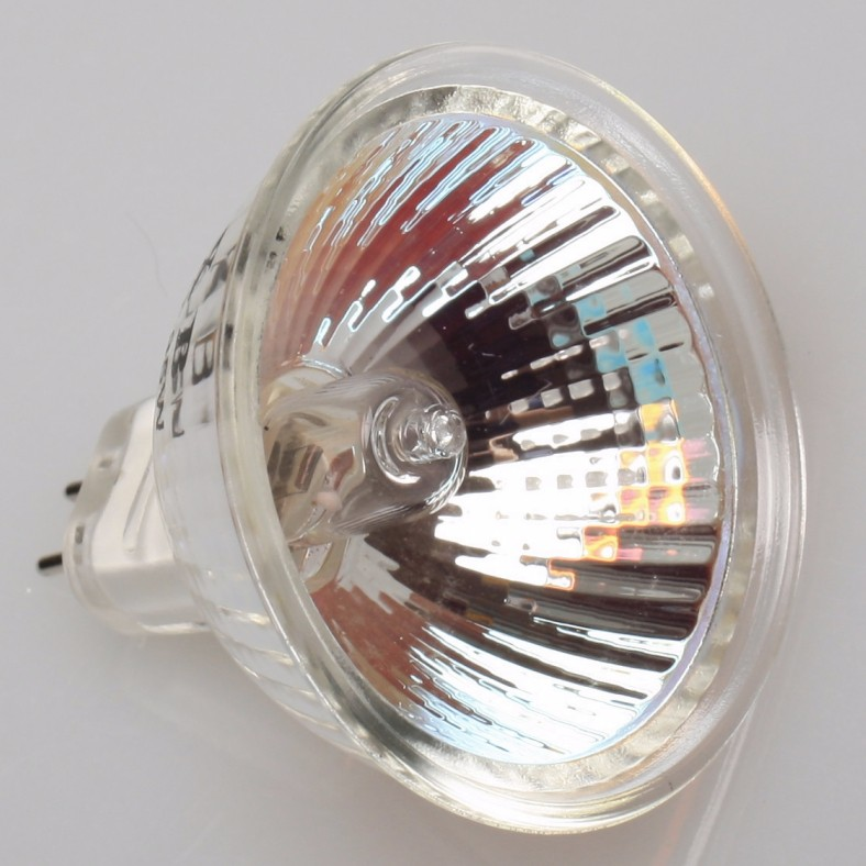 gu5.3 12v 24v 35w 50w halogen MR16 light lamp with clear glass cover