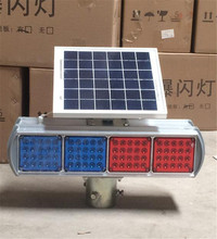 2017 direct supply factory price hot sale type outdoor roadway solar powered green led warning strobe light