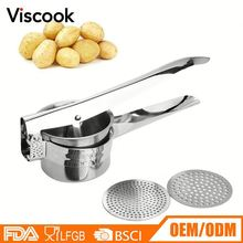 Manufacturer Supplies Stainless Steel Vegetable Ricer Potato Press