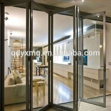cheap aluminum bathroom triple glazed exterior bi folding door for commercial