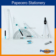 Papecero Stationery 7 Piece School Math Geometry Compass Set Maths Box