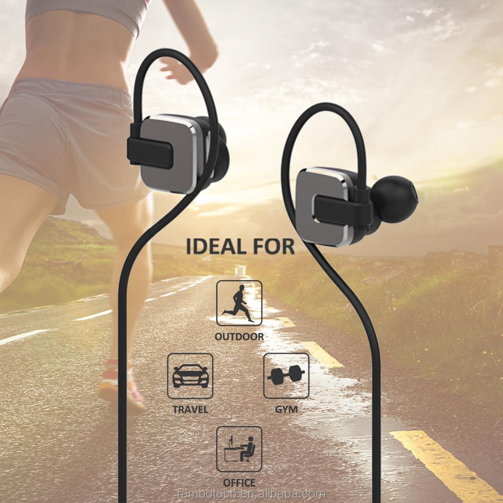 2016 Wireless Bluetooth Earbuds Waterproof RBD-129, High Sound Quality Bluetooth Stereo Headphone For <strong>Sport</strong>