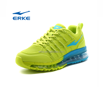 ERKE wholesale brand full air cushion sole colorful knitted mesh womens running sports shoes 2017