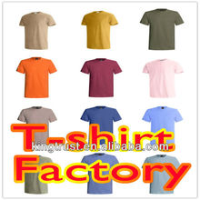 Customized 100% cotton men's round neck blank t-shirt/mens short sleeves plain t shirt
