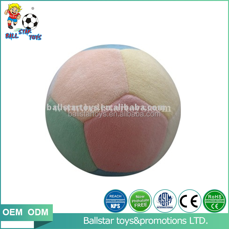 4 inch stuffed plush soft soccer ball with bell