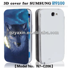 Cell phone cases for note 2,For samsung accessories 3D mobilephone case for samsung note2