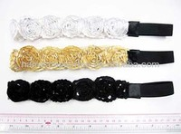Flower ladies decorative elastic headbands