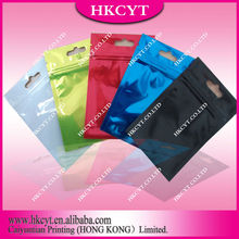 High quality pure color potpourri bag with zipper / seal aluminum foil ziplock packets / empty foiled packets
